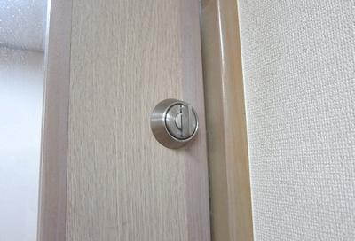 引戸戸先錠 取り付け(2)