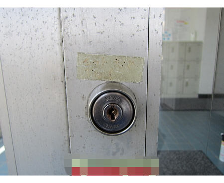 事務所入り口の鍵 交換前